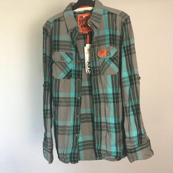 Superdry Shirts Super Dry Mens Lumberjack Shirt Nwt Poshmark